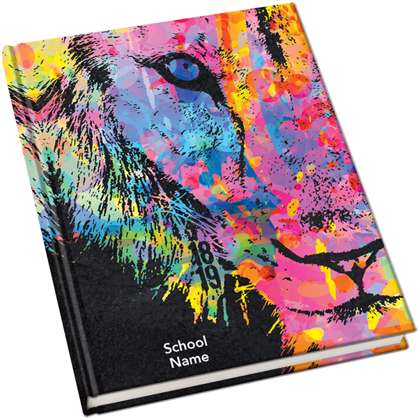 2018 2019 Yearbook Covers Lion W Color Yearbook Covers Yearbook Themes Yearbook Covers Design