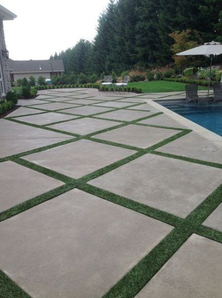 Best backyard ideas patio concrete grass 62+ ideas # ... on Backyard Ideas Concrete And Grass id=37192