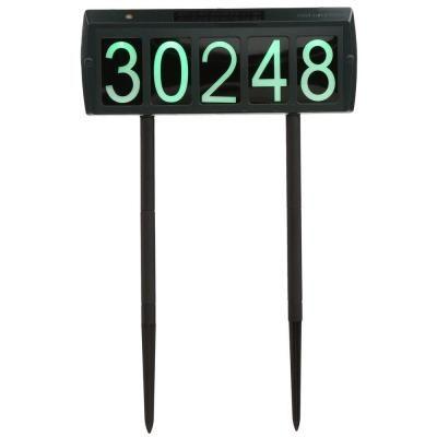 Gama Sonic Solar Powered Led Illuminated Address Sign Gs 80 The Home Depot Address Sign Solar Power Energy Efficient Design