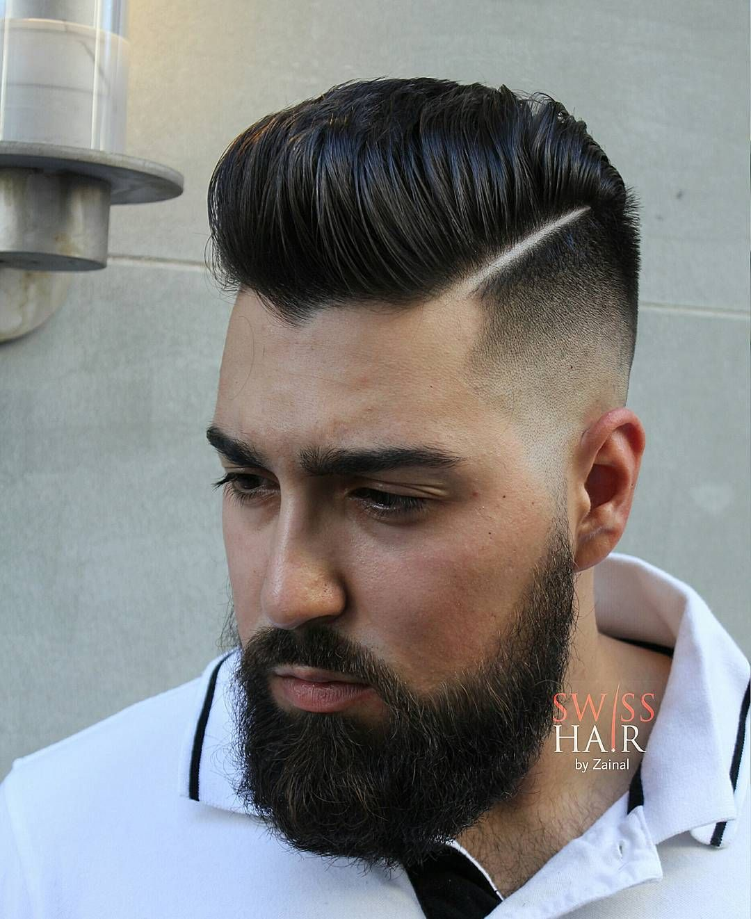 Barber And Hairstylist Zainal Swisshairbyzainal Fotos Y Videos De Instagram Pompadour Hairstyle Pompadour Haircut Mens Hairstyles Pompadour