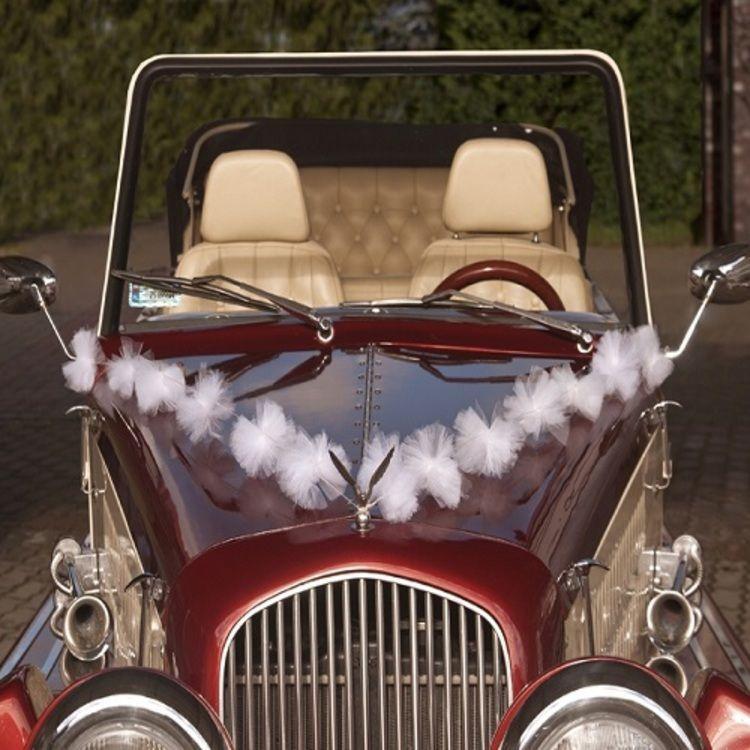 Retro Klassiek Romantisch En Chic Autodeco Nieuwe Decoratie Auto Versieren Trouwauto Decoraties Tule