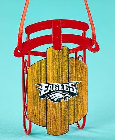 NFL Eagles Sled Ornaments $5.98