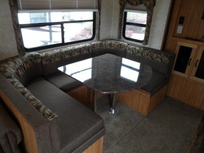 U Shaped Dinette For The Kitchen In A Travel Trailer Dinette