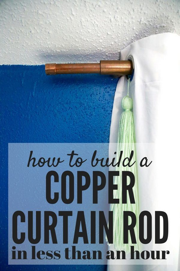 How to make your own curtain rod out of copper pipe and other fittings. It's quick, simple, and gorgeous!
