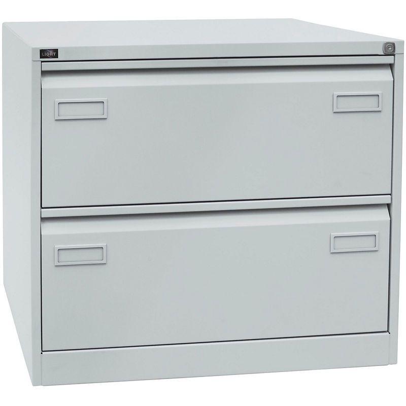 Bisley Classeur Pour Dossiers Suspendus Light A 2 Rangees 2 Tiroirs Format A4 Gris Clair Cdf2645 Certeo Filing Cabinet Home Decor Storage