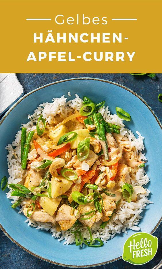 Gelbes Hähnchen-Apfel-Curry #herbstgerichte