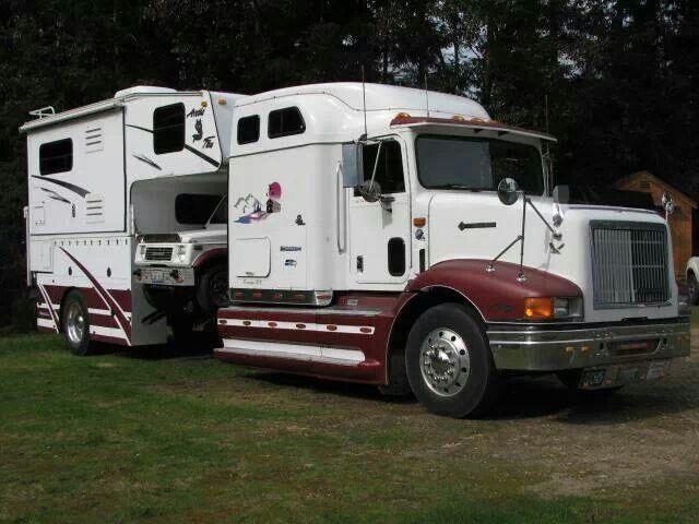 Semi Truck Aluminum Camper Hauler Slide In Camper Trucks Expedition Truck