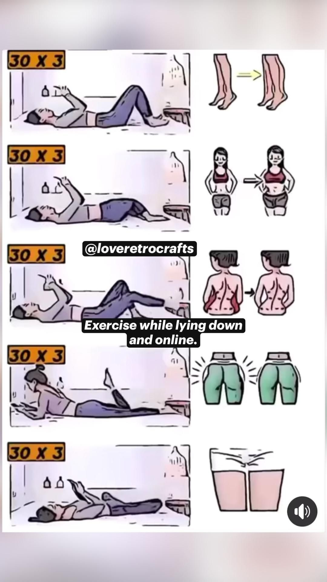 Exercise while lying down on your own bed