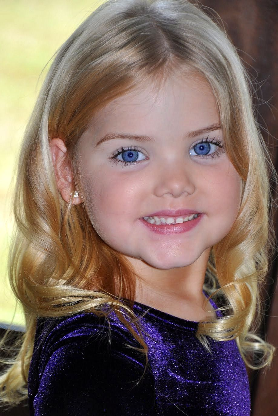 Angel Eyes Beautiful Little Girl With Blonde Hair And Blue Eyes