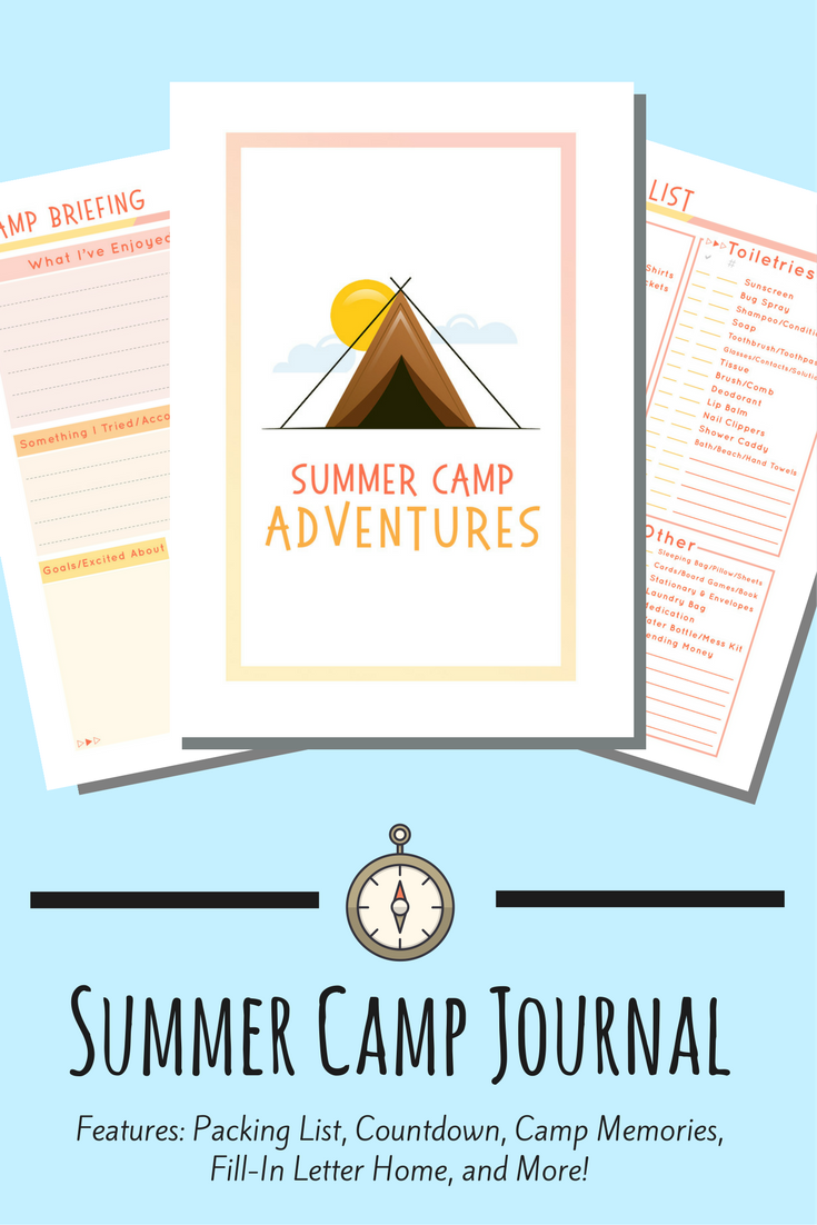A Fun FillIn Journal For You Kids To Use At Summer Camp Year