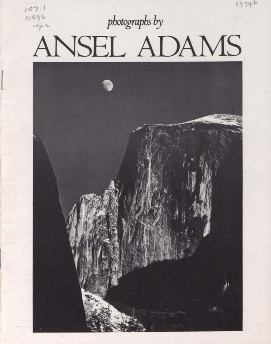 photographs by ansel adams prints and drawings galleries april 24 to june 30 1974