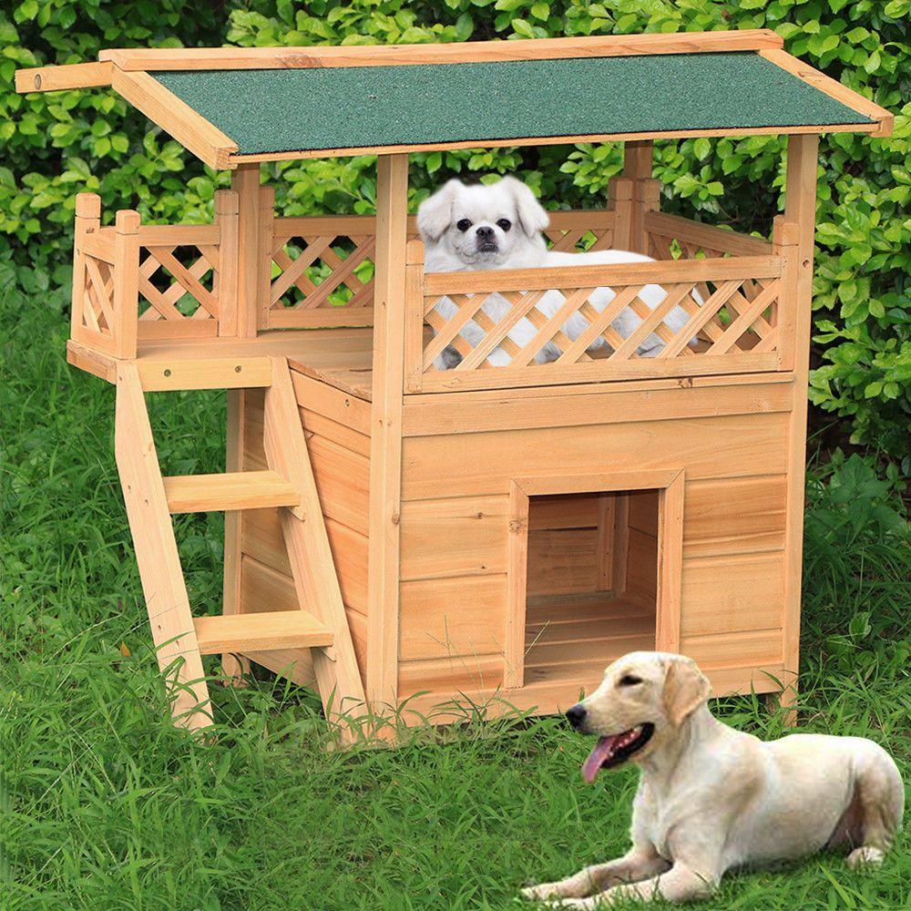 Hundehutte Wetterfestes Hundehaus Tierhaus Katzenhutte Mit Terrasse