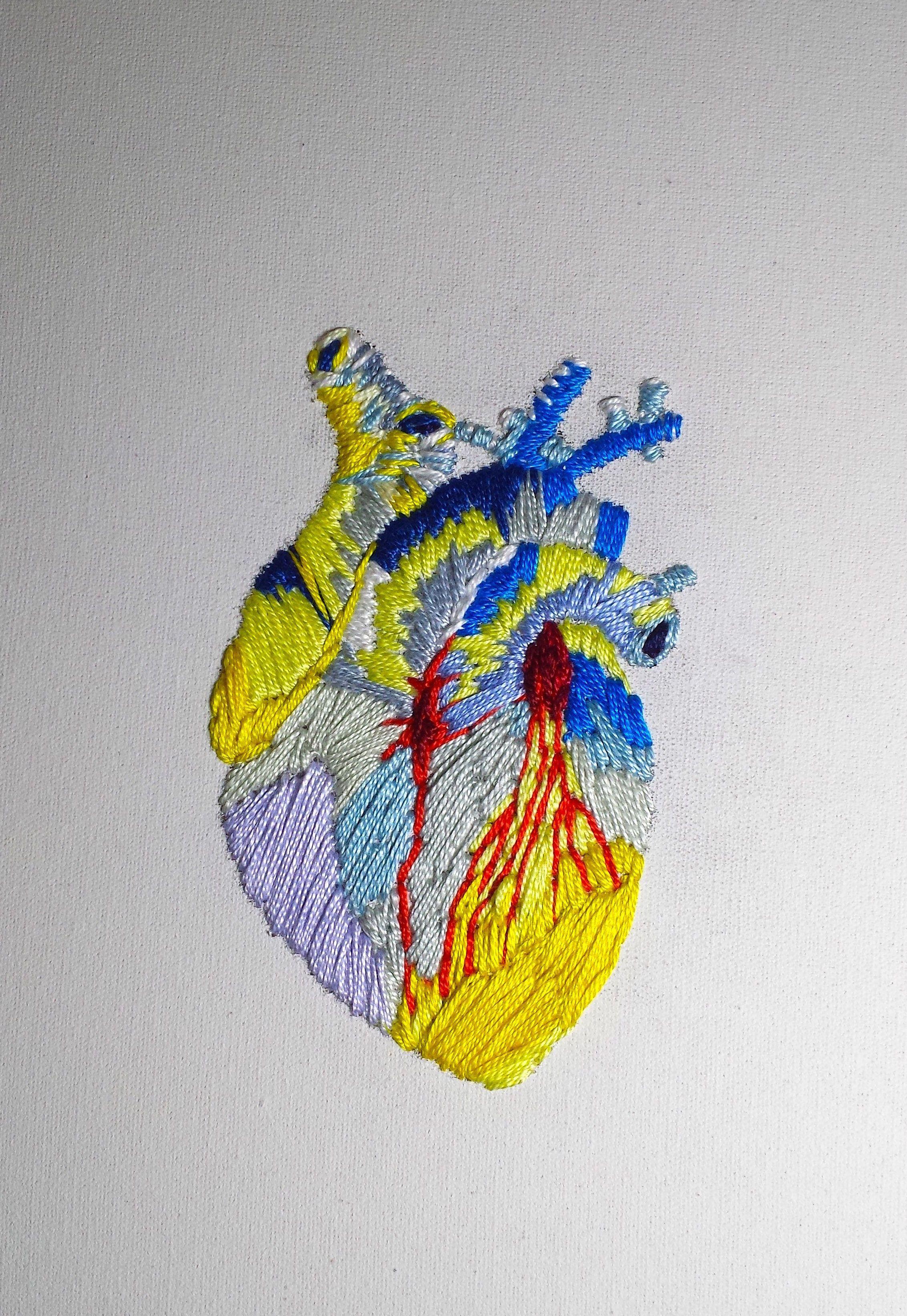 Coração III. Bordado em tela | Stitch Art | Pinterest | Embroidery ...