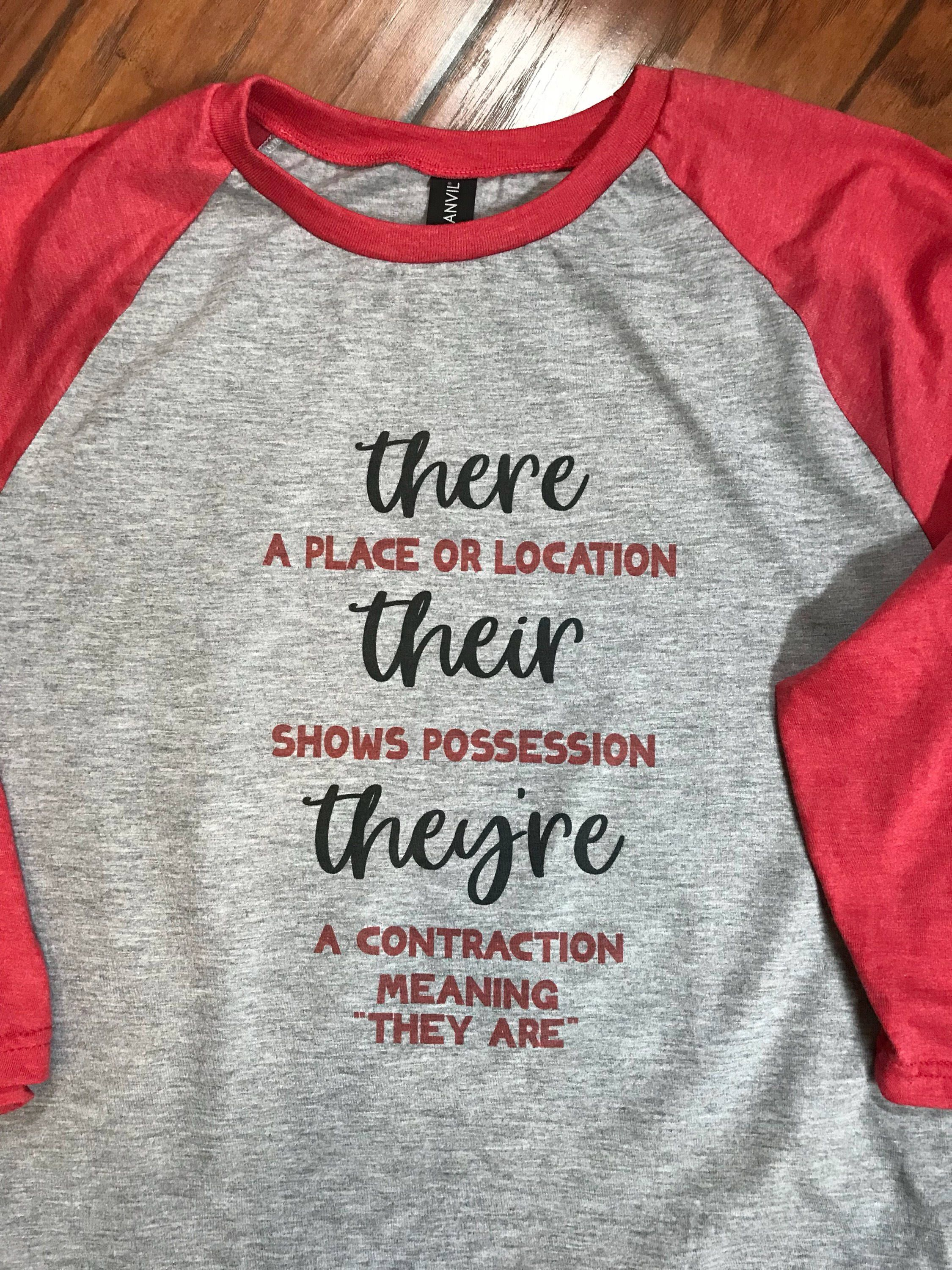 There Their They Re Grammar Shirts Teacher Shirts