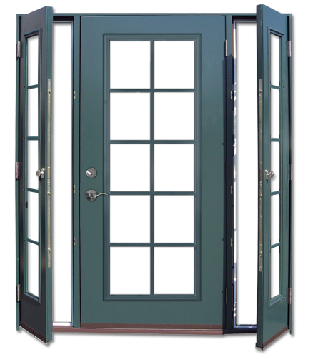 Vented sidelights home design ideas pinterest doors - Exterior french doors with sidelights ...