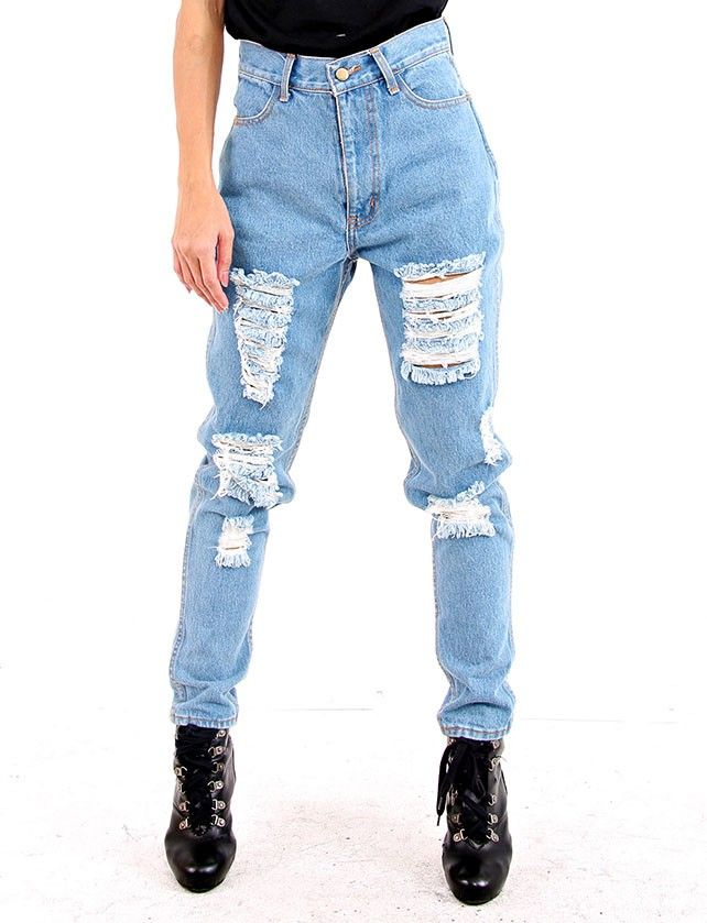 Distressed mom Jeans at the-rag-trader.com Online store> Shop the collection