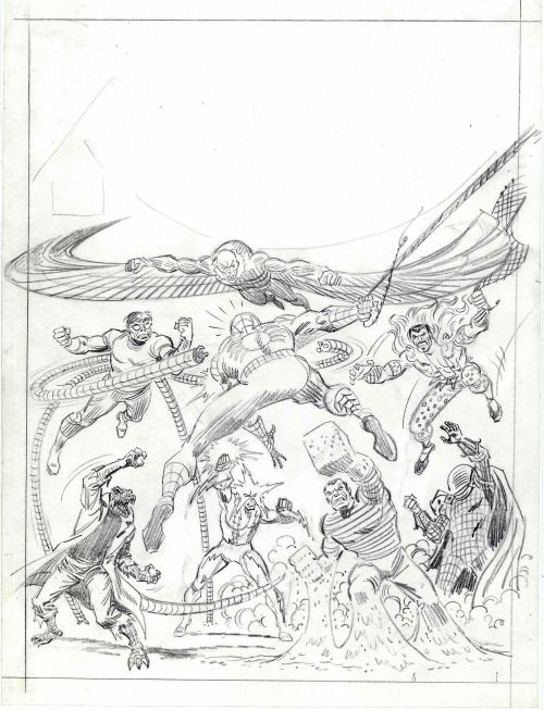 Pencils art by John Romita Sr. from cover of Marvel Special Edition #1, June 1975.