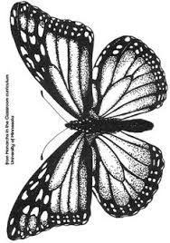 Monarch Butterfly Vintage Butterfly Tattoo Butterfly Tattoo Stencil Glitter Tattoo Stencils