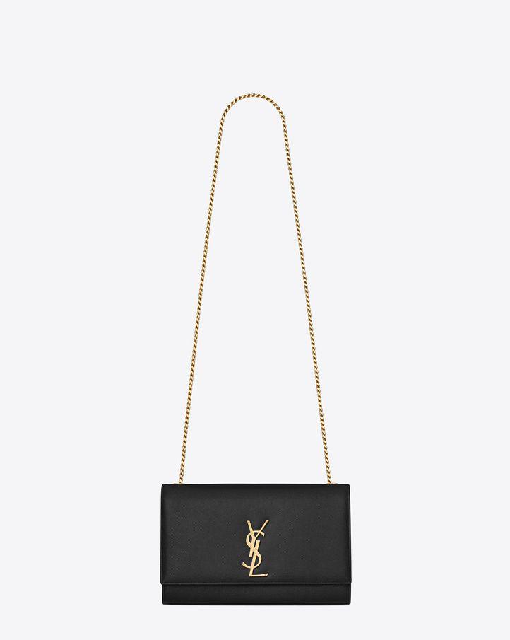 Saint Laurent Classic Medium Monogram Saint Laurent Satchel In Black Grain De Poudre Textured Leather Kate Bags Bags Bag Accessories