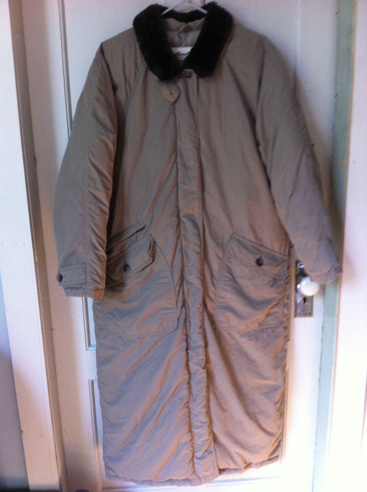 Women's Eddie Bauer Goose Down Full Length Coat Jacket