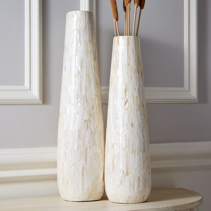 Set Of 2 Lamina Tall Decorative Vases Design By Tozai Products