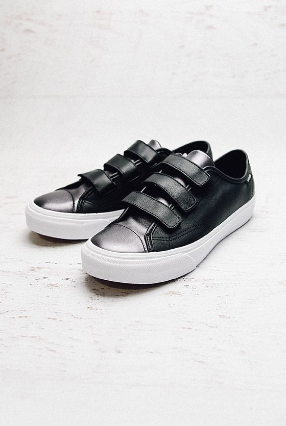 02977ae786 Vans Style 23 V 2 Tone Leather Sneaker - Gunmetal from peppermayo ...