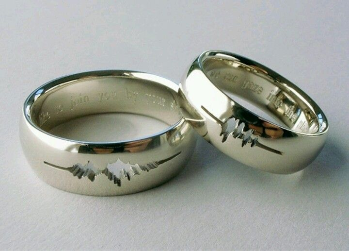 Wedding Rings With The Actual Sound Waves Of Each Person S Voice