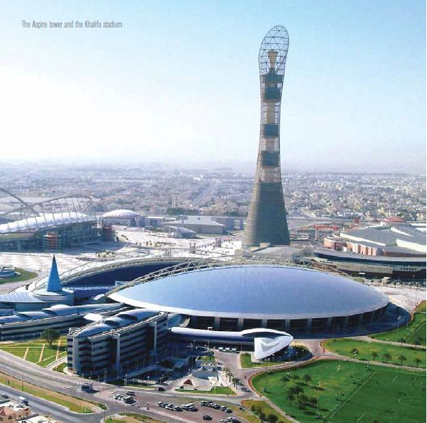 The Aspire Tower And The Khalifa Stadium Places To Visit Qatar 2022 Fifa World Cup