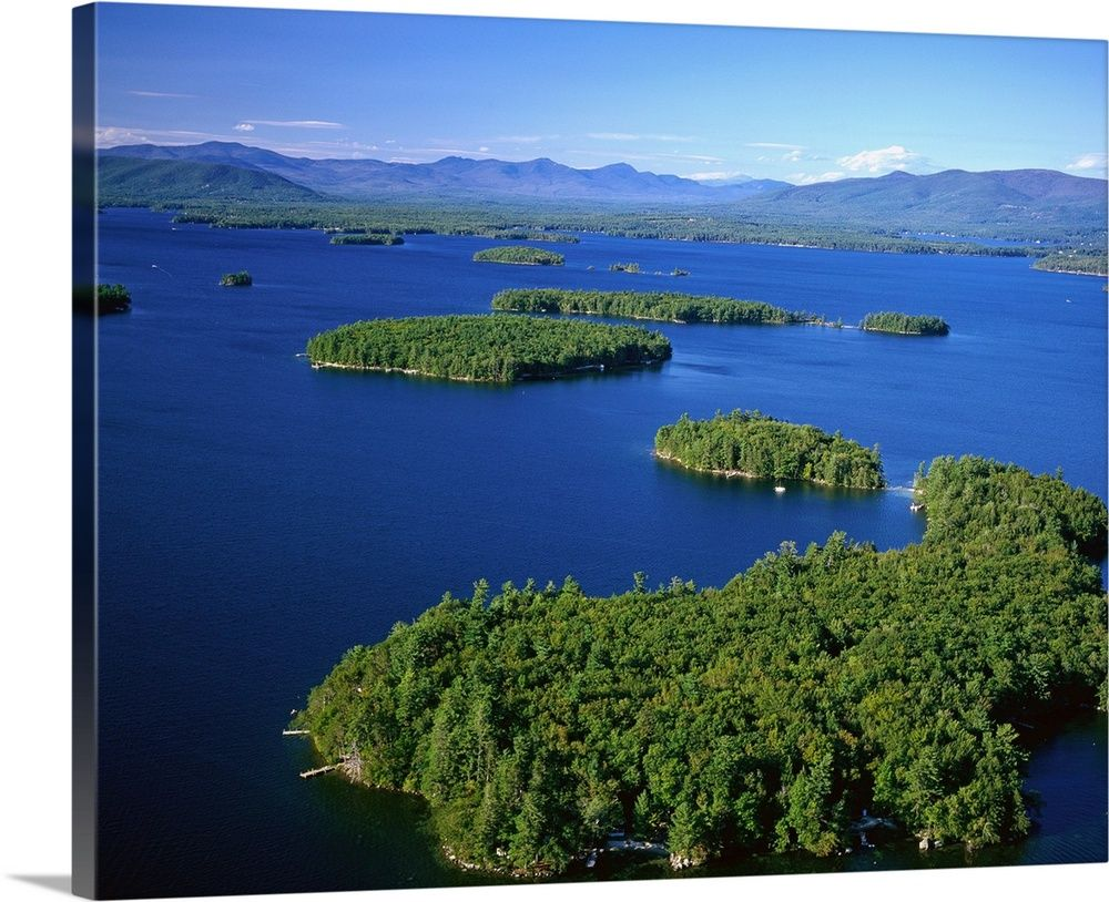 Lake Winnipesaukee New Hampshire Canoe Sunset Retro Travel Poster In 2020 Retro Travel Poster Lake Winnipesaukee Winnipesaukee