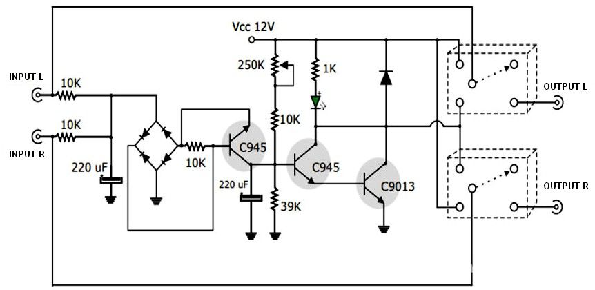 Active Speaker Protector Circuit and PCB Layout | Schematic Design ...