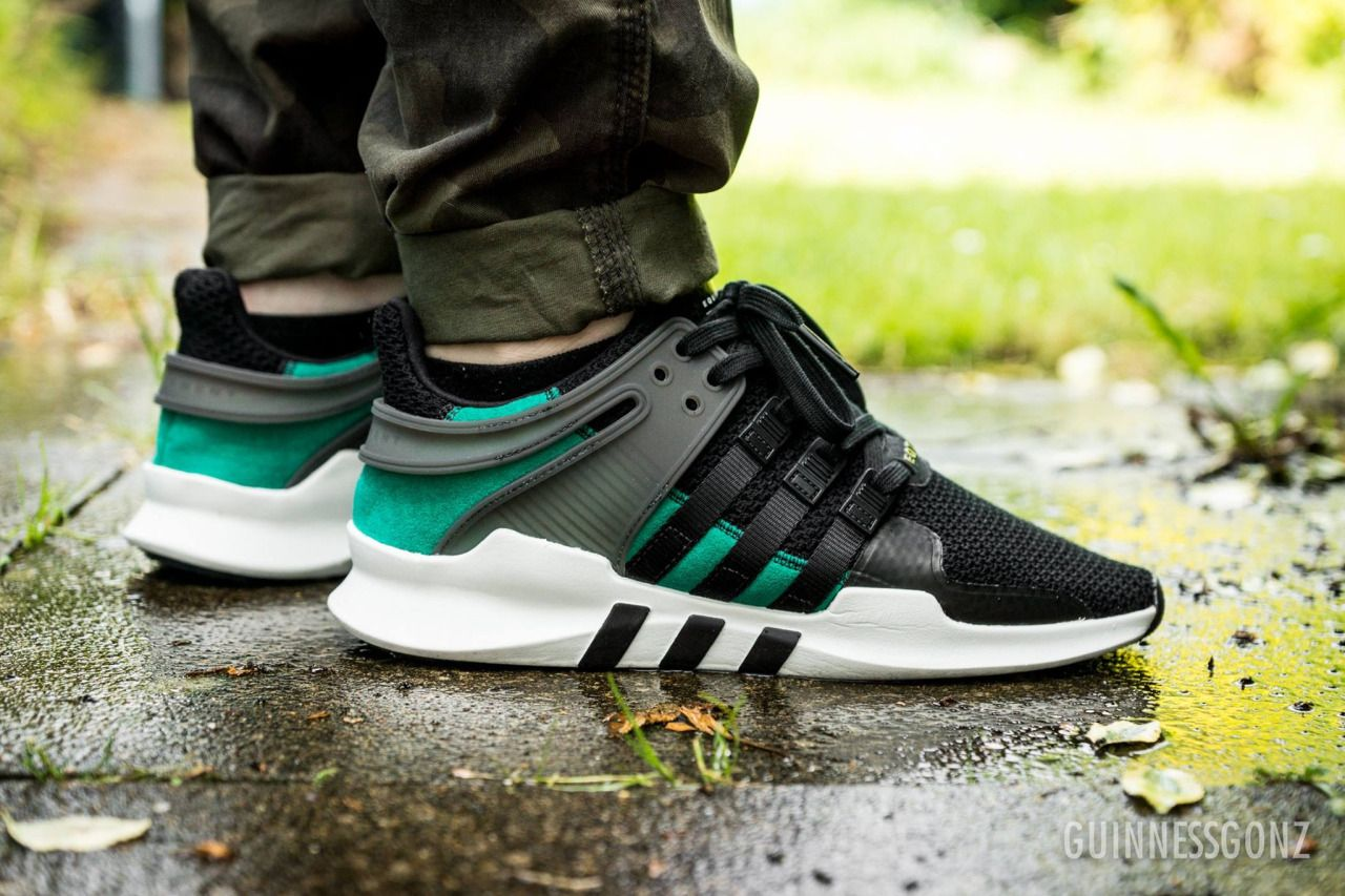 Adidas Equipment Support ADV - Core Black/Sub Green (by Stuart Arrowsmith)