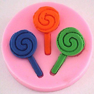 qinxi Lollipop Fondant Cake Chocolate Silicone Mold Cake Decoration Tools,L4.9cm*W4.9cm*H0.8cm -- Hurry! Check out this great product : Candy Making Supplies