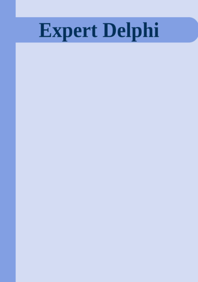 Expert Delphi by Pawel Glowacki Download Expert Delphi PDF Book by