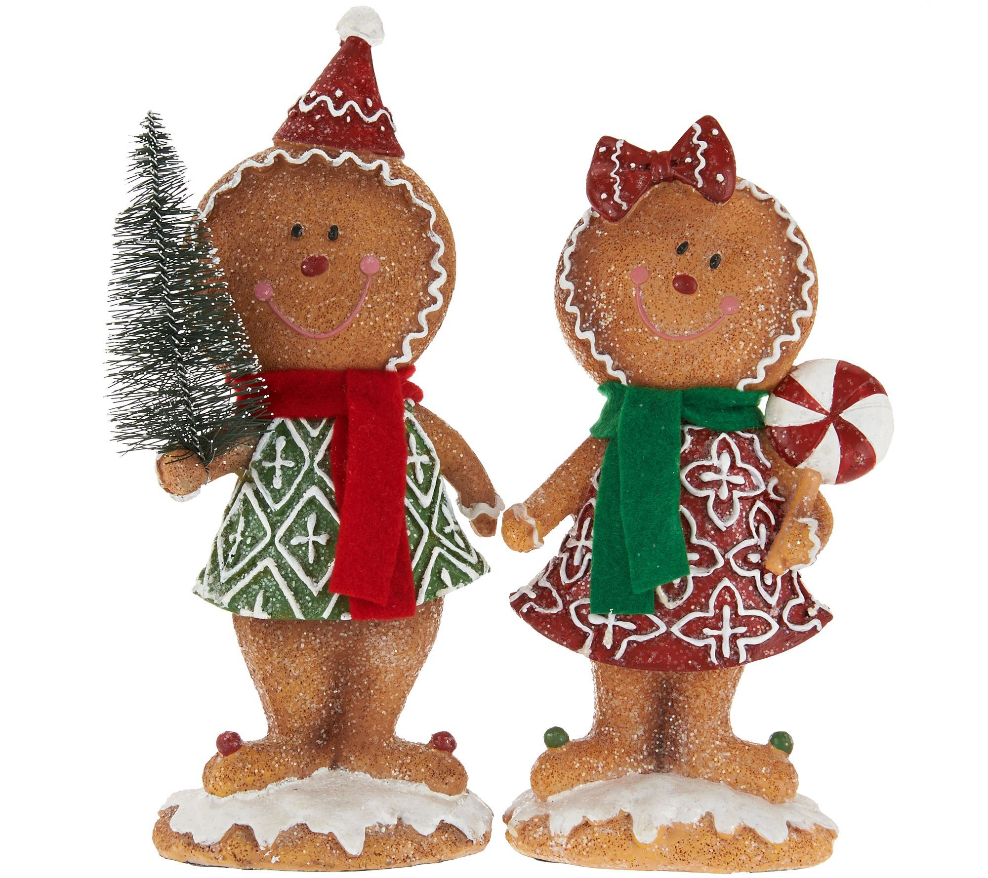 2 piece gingerbread boy girl by valerie gingerbread for Gingerbread decorations
