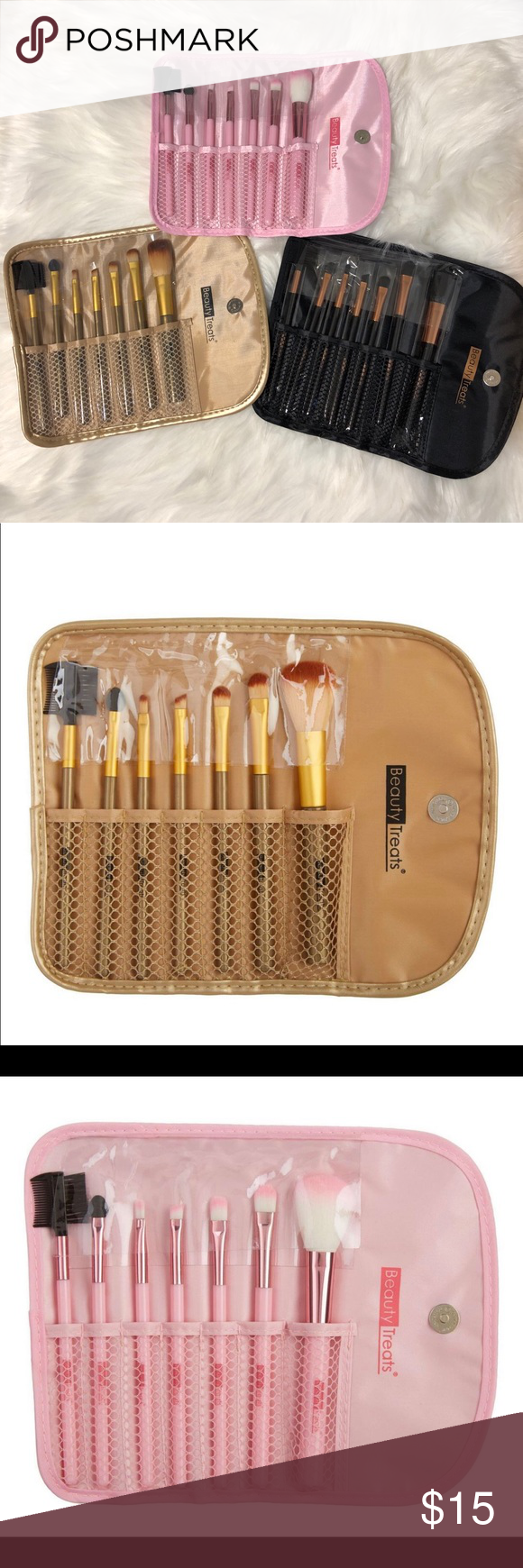Beauty treats brushes sets 💕💖 3 differents colors brushes