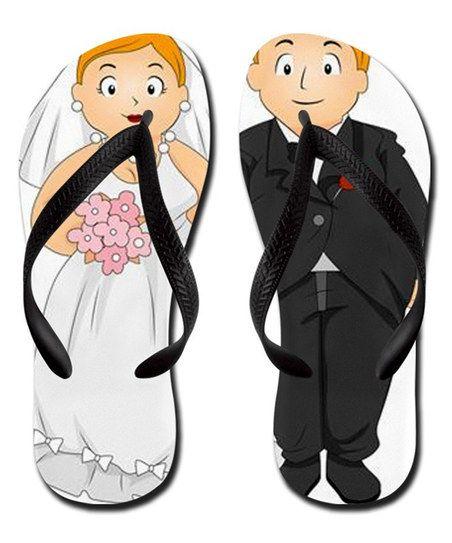 5000aef9755f Bride   Groom Flip-Flops