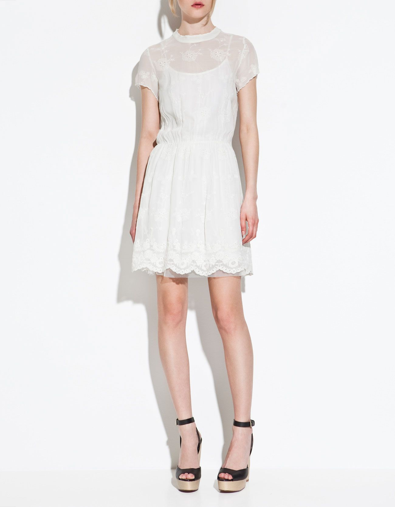 pretty lace dress from Zara  Weißes spitzenkleid, Kleider
