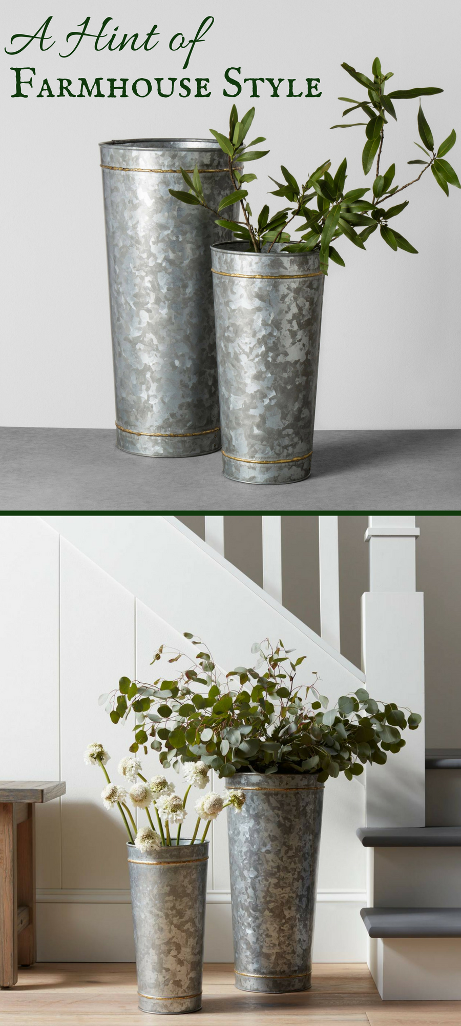 This Galvanized Metal Vase Is Exactly What I Ve Been Looking For