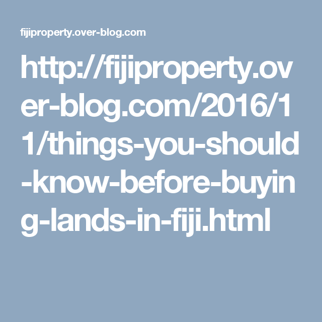 Http://fijiproperty.over Blog.com/2016/11/ · Build HouseLands ...