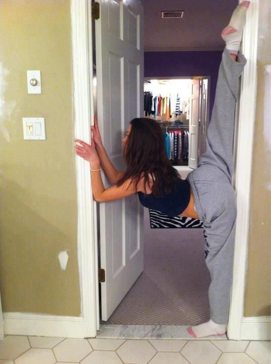 Utilize your space to work on your splits at home: