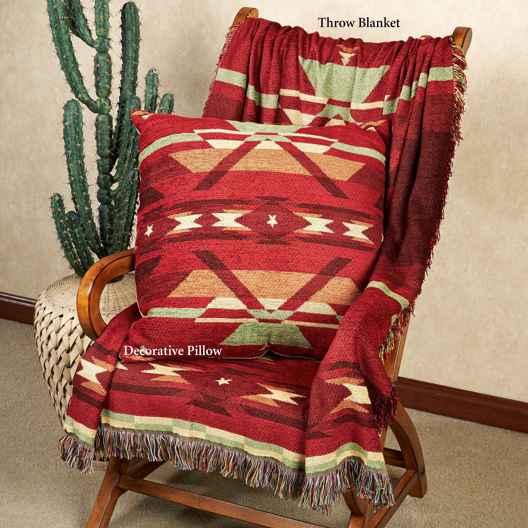 Southwestern Throw Blanket Flame Tapestry Southwest Throw Blanket Or Pillow  Tapestry Blanket