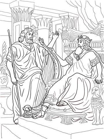 King David And Nathan Coloring Page Free Printable Coloring Pages Bible Coloring Pages Coloring Pages King David