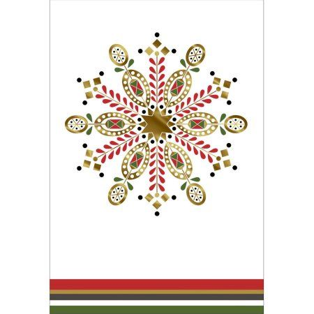 DaySpring Fun Boxed Christmas Cards, Red Green Gold, 40pk Boxed