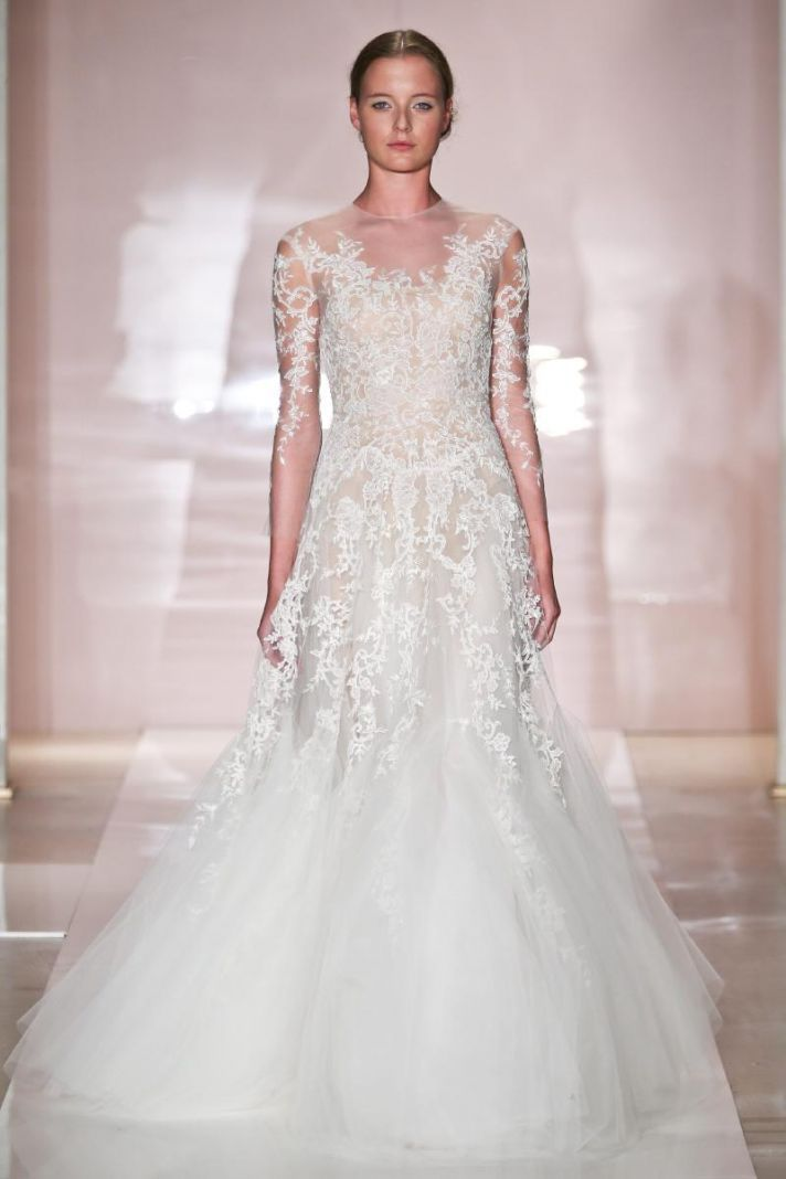 Erica 2 wedding dress by reem acra fall 2014 bridal for Reem acra lace wedding dress
