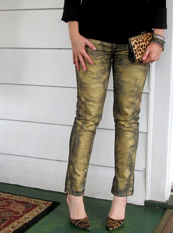 WobiSobi: Silver Metallic Jeans, DIY