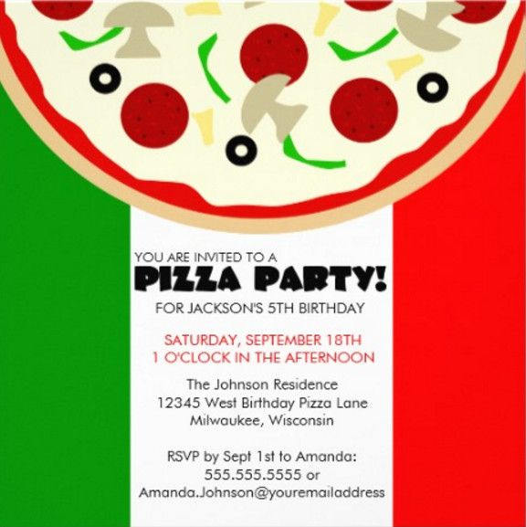 italian themed birthday party invitations – Italian Themed Party Invitations