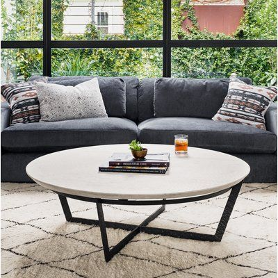 Brayden Studio® Rishi Cross Legs Coffee Table | Wayfair