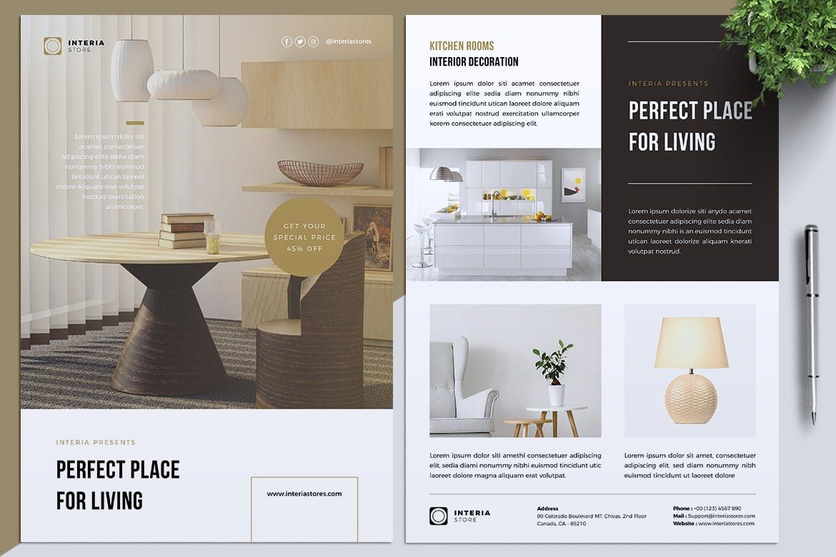 Interior Store Flyer Template in 2020 Store flyers