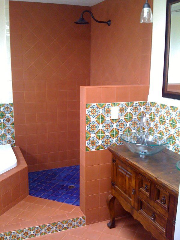 terra cotta tile shower google search mexican home decormexican - Terra Cotta Tile Home Decoration