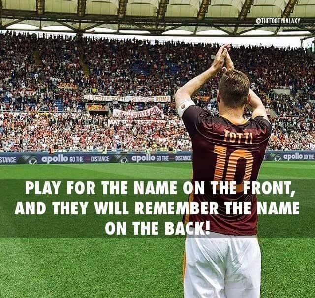 Francesco Totti Legend Football Highlights Football Highlight Legends Football Football Quotes